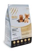 Blitz - Сухой корм для взрослых собак мелких и миниатюрных пород (с курицей) Adult Mini & Toy