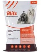 Blitz - Сухой корм для взрослых собак мелких и средних пород (с курицей) Adult Small & Medium