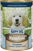 Happy Dog - Консервы для щенков и юниоров (с телятиной, печенью, сердцем и рисом)