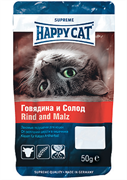 Happy Cat - Лакомые подушечки (с говядиной и солодом)