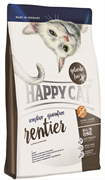 Happy Cat - Сухой беззерновой корм для кошек с чувствительным пищеварением (с олениной) Adult Sensitive Grainfree