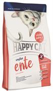 Happy Cat - Сухой корм для кошек с чувствительным пищеварением (с уткой) Adult Sensitive
