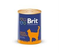 Brit - Консервы для кошек (Мясное ассорти с печенью) BEEF AND LIVER MEDLEY