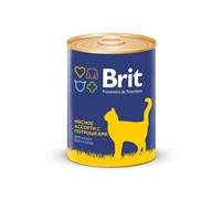 Brit - Консервы для кошек (Мясное ассорти с потрошками) BEEF AND OFFAL MEDLEY