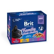"Brit - Набор паучей для кошек ""Семейная тарелка"" (12 шт*100 г) Family Plate"