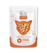 Brit - Паучи для кошек (с курицей и сыром) Care Chicken&Cheese