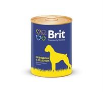 Brit - Консервы для собак (с говядиной и пшеном) Premium BEEF&MILLET