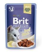 """Brit - Паучи для кошек """"Кусочки из филе говядины в желе"""" JELLY Beef fillets"""