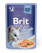 "Brit - Паучи для кошек ""Кусочки из филе лосося в желе"" JELLY Salmon fillets"