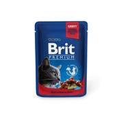 Brit - Паучи для кошек (с говядиной и горошком) Beef Stew &Peas