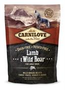 CarniLove - Сухой беззерновой корм для взрослых собак всех пород (с ягненком и диким кабаном) Adult Lamb & Wild Boar