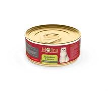 """Molina - Консервы для кошек """"Цыпленок с лососем в желе"""""""