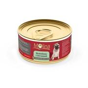 """Molina - Консервы для собак """"Цыпленок с ветчиной в соусе"""""""