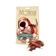 """Molina - Лакомство для собак """"Утиные рулетики с треской"""""""