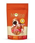 """Molina - Лакомство для собак мелких пород """"Косточки с вяленой курицей"""""""