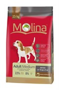 Molina - Сухой корм для взрослых собак средних пород Adult Medium