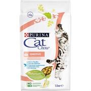 Purina Cat Chow - Сухой корм для взрослых кошек с чувствительным пищеварением, с высоким содержанием домашней птицы (с лососем)