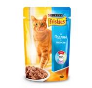 Purina Friskies - Влажный корм для кошек (с лососем в подливе)
