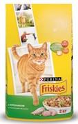 Purina Friskies - Сухой корм для взрослых кошек (с кроликом и овощами)