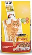 Purina Friskies - Сухой корм для взрослых кошек (с мясом, курицей и печенью)