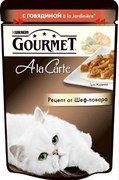 Purina Gourmet - Влажный корм для кошек (с говядиной a la Jardiniere) A la Carte