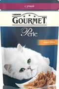 Purina Gourmet - Влажный корм для кошек (с уткой) Perle