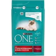 Purina ONE - Сухой корм для стерилизованных кошек и котов (с говядиной и пшеницей)