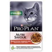 Purina Pro Plan - Влажный корм для взрослых стерилизованных кошек и кастрированных котов (с говядиной)