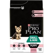 Purina Pro Plan - Сухой корм для щенков мелких и карликовых пород с чувствительной кожей (с лососем и рисом) OPTIDERMA