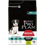 Purina Pro Plan - Сухой корм для щенков средних пород с чувствительным пищеварением (с ягненком и рисом) OPTIDIGEST