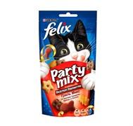 Purina Felix - Лакомство для кошек (с говядиной, курицей и лососем) Party Mix