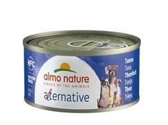 "Almo Nature Alternative - Консервы для собак ""Тунец"", 55% мяса HFC DOGS TUNA"