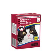 BOZITA - Консервы для кошек (кусочки в желе с говядиной) Tetra Pak Feline Minced Beef