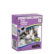 BOZITA - Консервы для кошек (кусочки в желе с индейкой) Feline Minced Turkey Tetra Pak