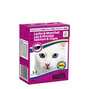 BOZITA - Консервы для кошек (кусочки в желе с лососем и мидиями) Tetra Pak Feline Salmon & Clam